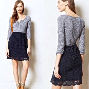 Anthropologie Lilka Marya Dress Henley Lace